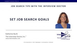 set goals in your job search marketing plan