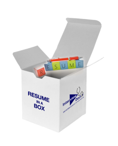 resume in a box - resume writing tips