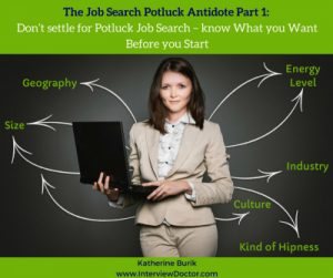 know what you want before you job search