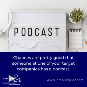 connecting with podcast hosts can help with job search networking