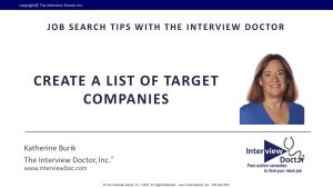 Why you need to Create a List of Target Companies