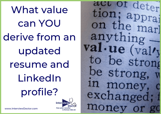 gain value by updating your resume and linkedin profile