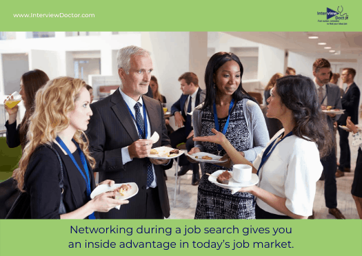 get an inside advantage during a job search by networking