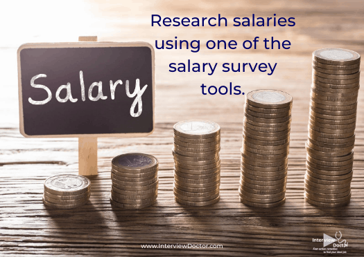 research salaries using online salary survey tools