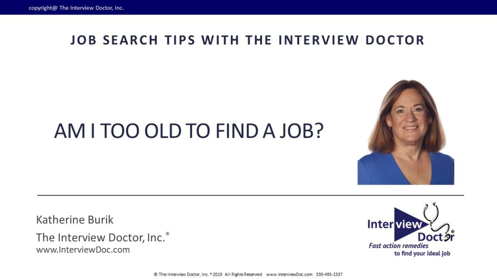 how to find a job at any age