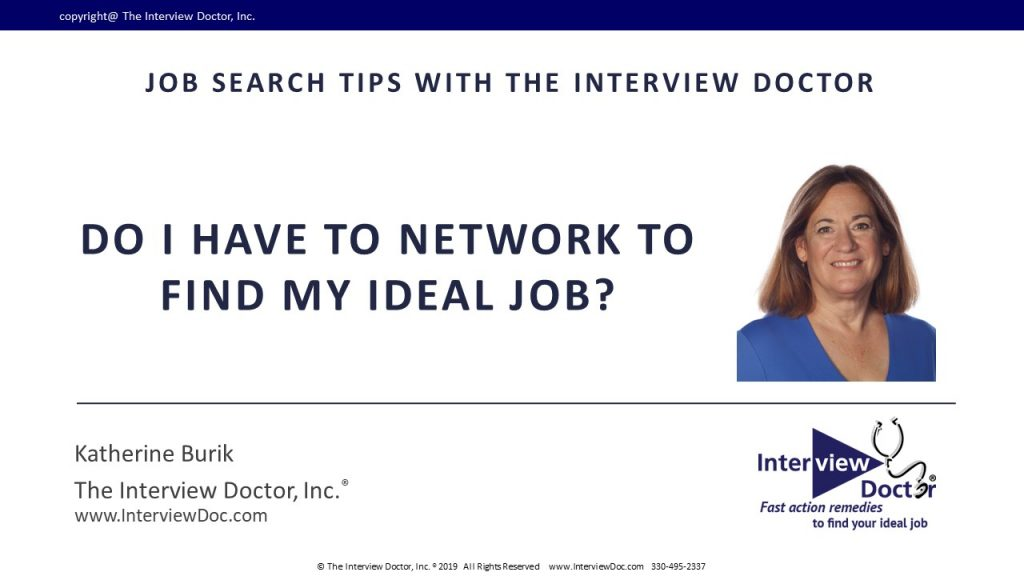 find your ideal job by networking