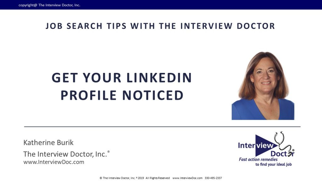 get linkedin profile noticed by recruiters