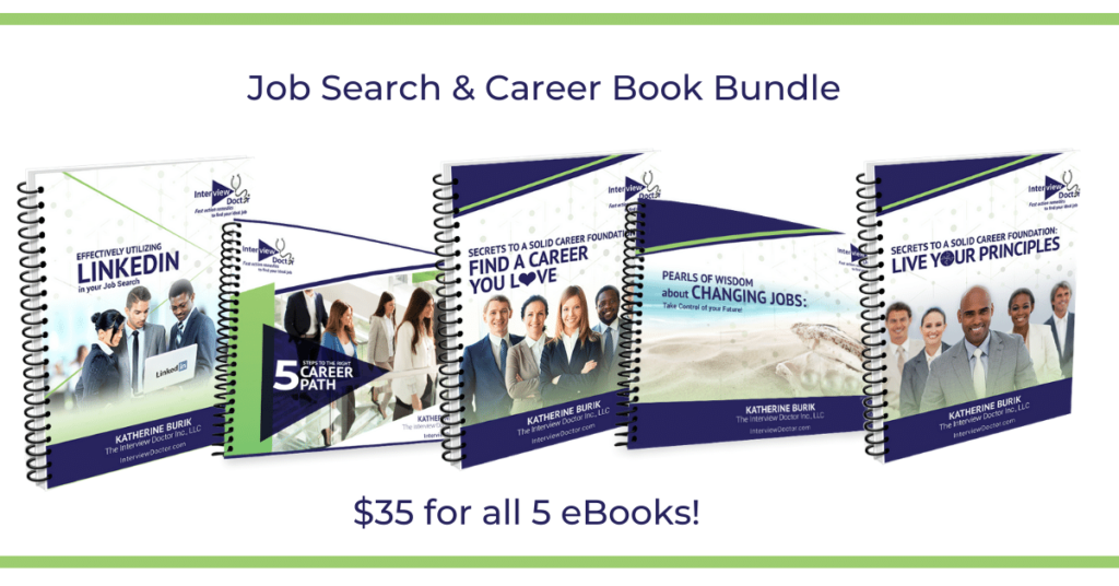 bundle of job search books