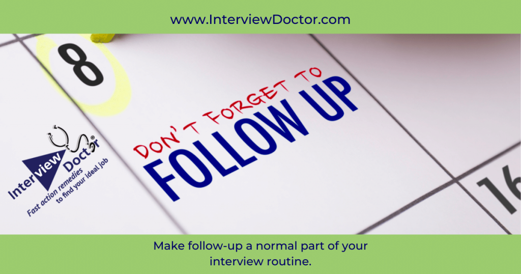 after a job search don't forget to follow up