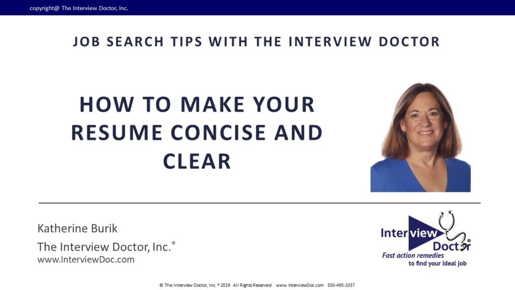 How to Make Your Resume Concise and Clear