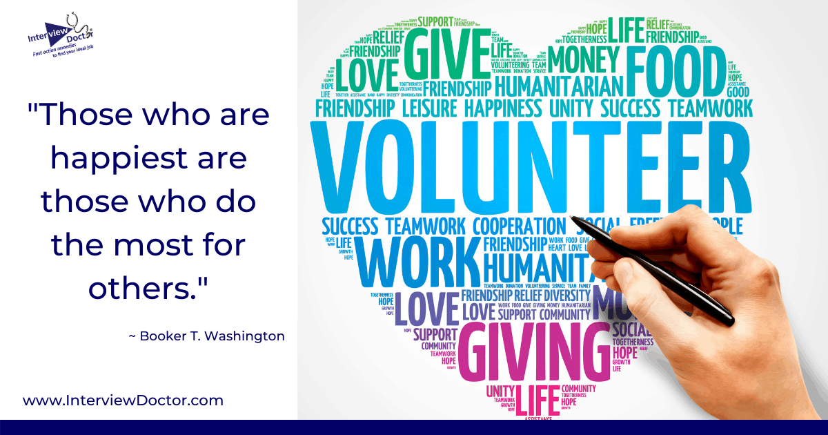 volunteer by helping others